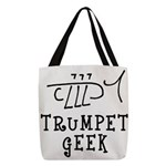 Trumpet Hand Drawn Polyester Tote Bag