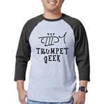 Trumpet Hand Drawn Mens Baseball Tee