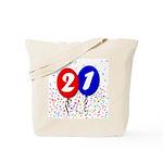 21st Birthday Tote Bag