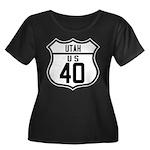 Route 40 Shield - Utah Women's Plus Size Scoop Nec
