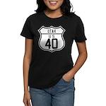 Route 40 Shield - Utah Women's Dark T-Shirt
