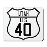 Route 40 Shield - Utah Mousepad