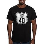 Route 40 Shield - Utah Men's Fitted T-Shirt (dark)