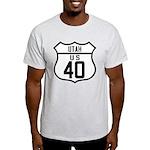 Route 40 Shield - Utah Light T-Shirt