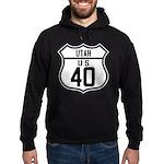 Route 40 Shield - Utah Hoodie (dark)