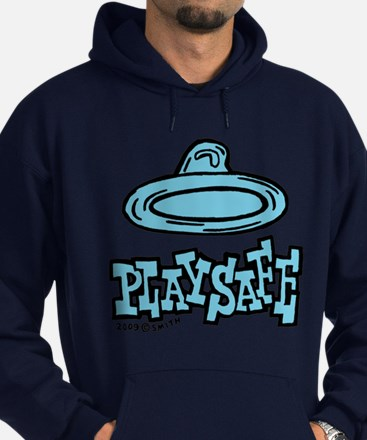 Condom Play Safe (right) Hoodie (dark)