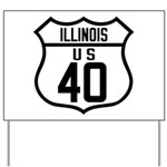 Route 40 Shield - Illinois Yard Sign