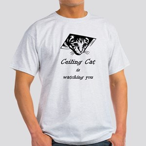 Ceiling Cat is Watching You Light T-Shirt