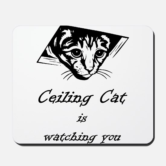 Ceiling Cat is Watching You Mousepad