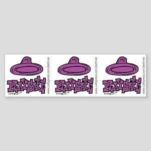 Condom Play Safe (right) Bumper Sticker