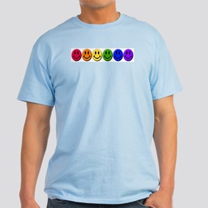Gay Happy Faces Light T-Shirt