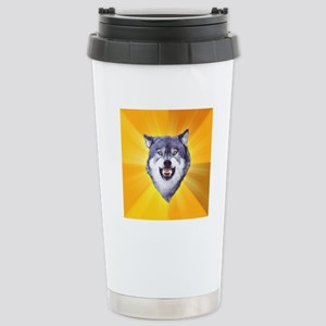 Courage Wolf Stainless Steel Travel Mug