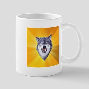 Courage Wolf Mug