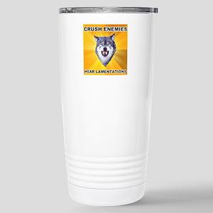 Crush Enemies Stainless Steel Travel Mug