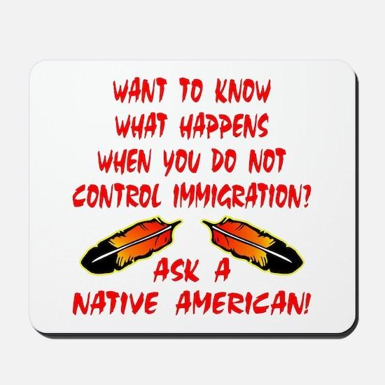 Controling Immigration Mousepad