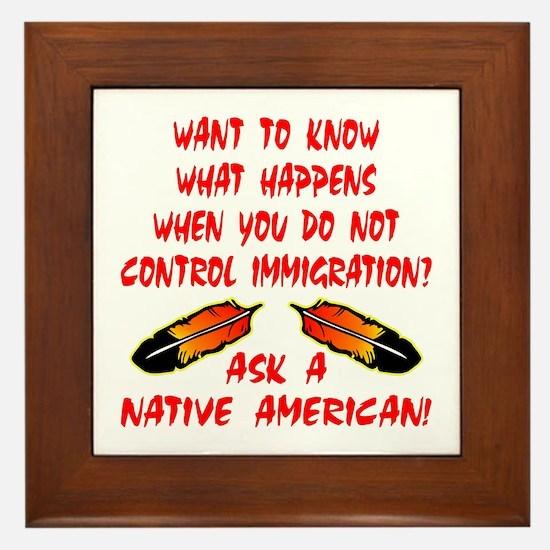 Controling Immigration Framed Tile