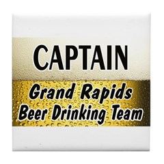 Grand Rapids Beer Drinking Team Tile Coaster