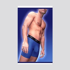 Blue shorts athlete Rectangle Sticker