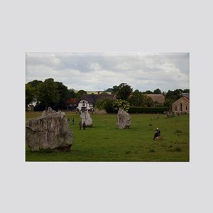 Cloudy Avebury Rectangle Magnet