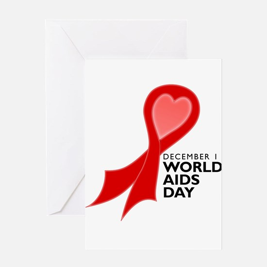 Worlds AIDS Day Red Ribbon Greeting Card