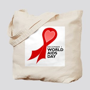 Worlds AIDS Day Red Ribbon Tote Bag