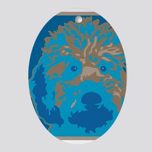 Labradoodle 2- Oval Ornament