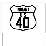 Route 40 Shield - Indiana Yard Sign
