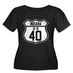 Route 40 Shield - Indiana Women's Plus Size Scoop