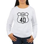 Route 40 Shield - Indiana Women's Long Sleeve T-Sh