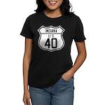 Route 40 Shield - Indiana Women's Dark T-Shirt