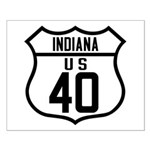 Route 40 Shield - Indiana Small Poster