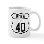 Route 40 Shield - Indiana Mug