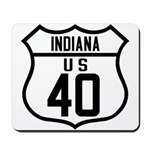 Route 40 Shield - Indiana Mousepad