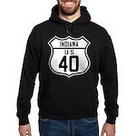 Route 40 Shield - Indiana Hoodie (dark)