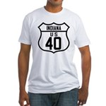 Route 40 Shield - Indiana Fitted T-Shirt