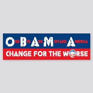 Change for the Worse Bumper Sticker