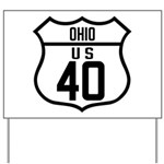 Route 40 Shield - Ohio Yard Sign