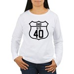 Route 40 Shield - Ohio Women's Long Sleeve T-Shirt