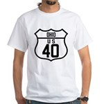 Route 40 Shield - Ohio White T-Shirt