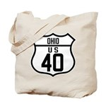 Route 40 Shield - Ohio Tote Bag