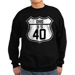 Route 40 Shield - Ohio Sweatshirt (dark)
