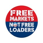 """Free Markets 3.5"""" Button (100 pack)"""
