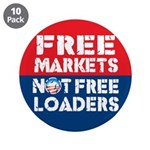 """Free Markets 3.5"""" Button (10 pack)"""