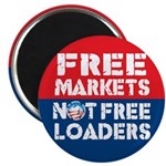 """Free Markets 2.25"""" Magnet (10 pack)"""