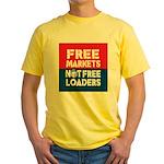 Free Markets Yellow T-Shirt