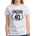 Route 40 Shield - Pennsylvani Women's T-Shirt