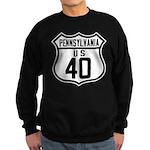 Route 40 Shield - Pennsylvani Sweatshirt (dark)