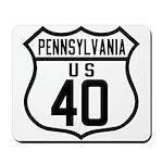 Route 40 Shield - Pennsylvani Mousepad