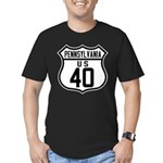 Route 40 Shield - Pennsylvani Men's Fitted T-Shirt