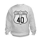 Route 40 Shield - Pennsylvani Kids Sweatshirt